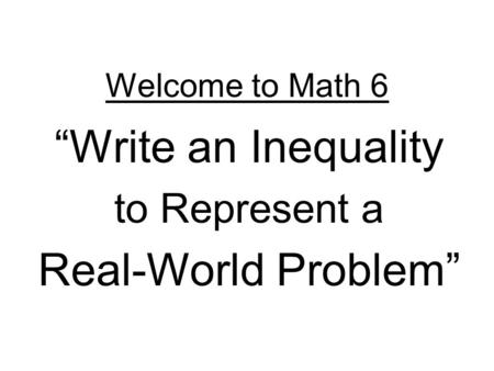 write an inequality that represents the graphite