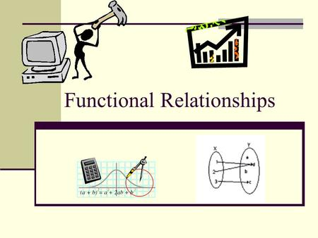 Functional Relationships. Day 1 Vocabulary: A function is a relation in which each element of the domain is paired with exactly one element of the range.