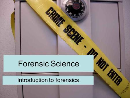 Forensic Science Introduction to forensics. Learning outcomes Be able to describe a range of forensic methods Describe how SOCO's avoid contaminating.