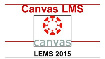 Canvas LMS LEMS 2015.