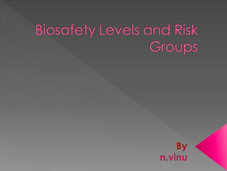 "Discuss the major characteristics of the four Biosafety Levels. Define ""Risk Group"" and give an example of each. Discuss how Risk Groups are used in conjunction."