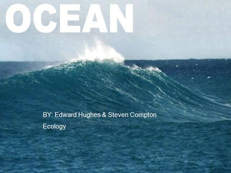 BY: Edward Hughes & Steven Compton Ecology. Location  The Ocean is located all over the world.