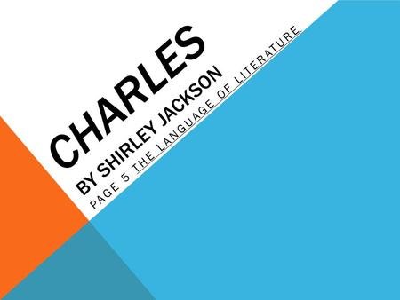 essay questions for charles by shirley jackson