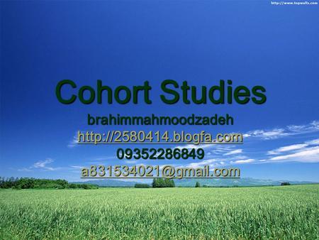 case cohort study ppt