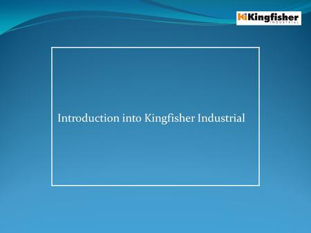 Introduction into Kingfisher Industrial. Who are Kingfisher industrial? Protect process plant and equipment Privately owned company Based in the Midlands,