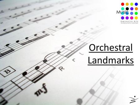 Orchestral Landmarks. Classical or non-classical? Cadenza Recapitulation Tone row Balanced phrasing Melody in the strings Schubert Wagner Programme music.