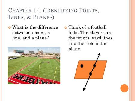 what is the relationship between point line and plane