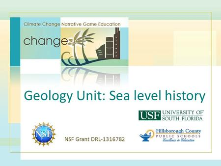 Geology Unit: Sea level history