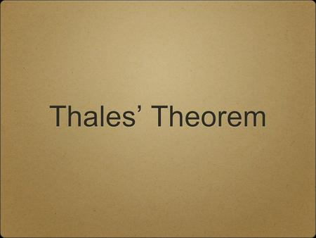 Thales' Theorem. Easily Constructible Right Triangle Draw a circle. Draw a line using the circle's center and radius control points. Construct the intersection.