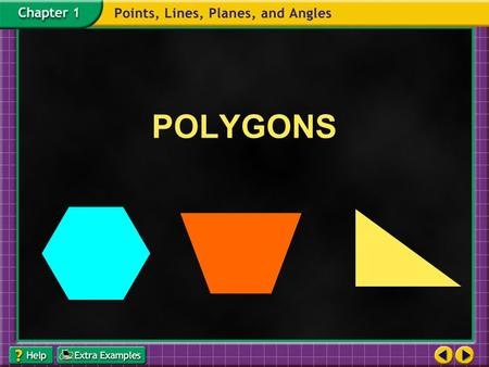 POLYGONS. Polygon : a closed figure formed by coplanar line segments such that: − segments with a common endpoint are non-collinear − each segment intersects.