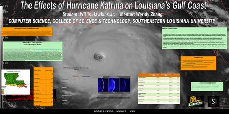 MATERIALS AND METHODS DESCRIPTION OF WORK The Louisiana map layers for this project from the ESRI Tiger/Line 2000 web site at