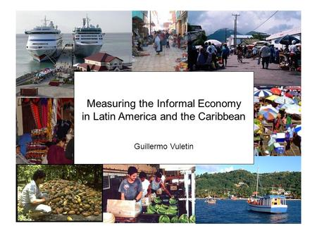 Measuring the Informal Economy in Latin America and the Caribbean Guillermo Vuletin.
