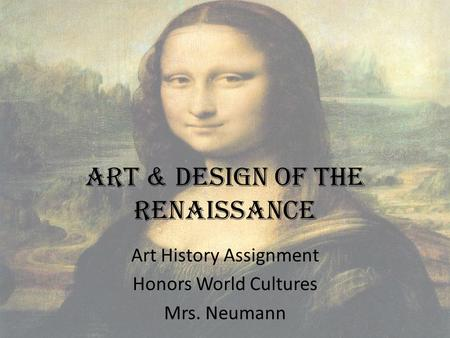 Art & Design of the Renaissance