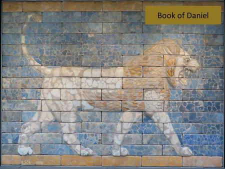 Book of Daniel. The Chiastic Structure of Daniel Chapter 1 (See John E. Goldingay, Daniel, pp. 8-12)
