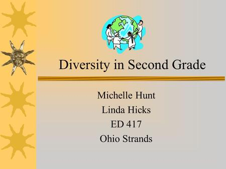 Diversity in Second Grade Michelle Hunt Linda Hicks ED 417 Ohio Strands.