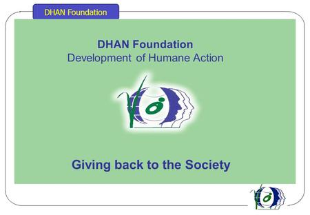 DHAN Foundation Development of Humane Action