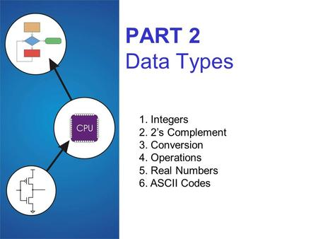 PART 2 Data Types 1. Integers 2. 2's Complement 3. Conversion