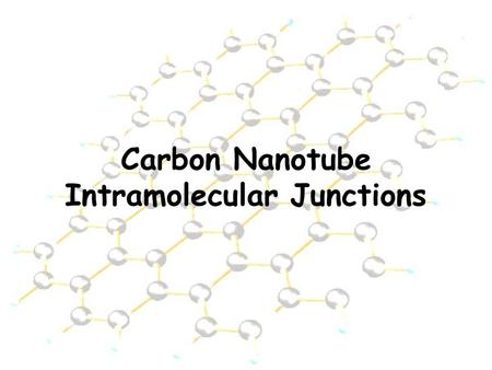 Carbon Nanotube Intramolecular Junctions. Nanotubes A graphene sheet with a hexagonal lattice…