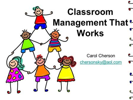 Classroom Management That Works Carol Cherson