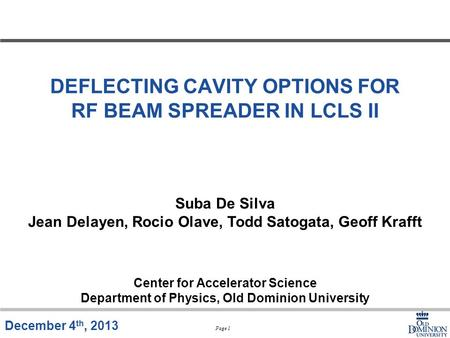 DEFLECTING CAVITY OPTIONS FOR RF BEAM SPREADER IN LCLS II