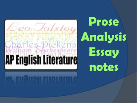 day one introductions prompt analysis ppt video online  prose analysis essay notes ap prose analysis essay notes before you write  read