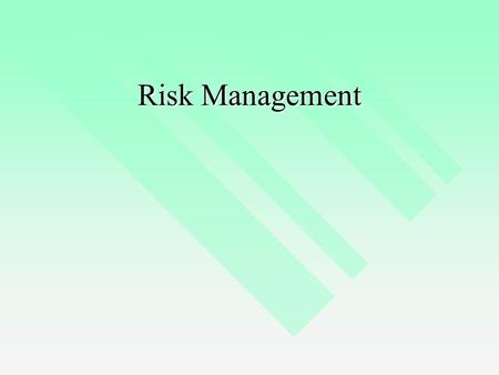Risk Management. IT Controls Risk management process Risk management process IT controls IT controls IT Governance Frameworks IT Governance Frameworks.