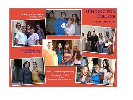 Funding for College! Financial Aid Scholarships Casilda Pagan Scholarship.