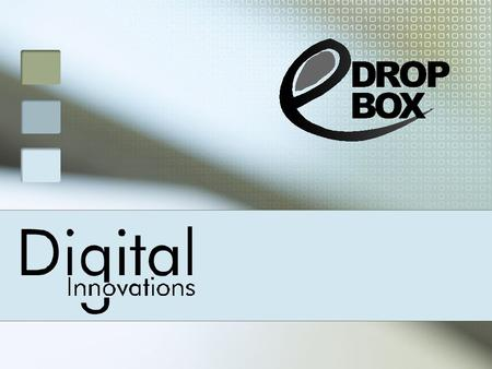 E-Drop box is an Electronic Cheque Drop Box that can be install at Branch premises or any other location to collect cheques from the customers with complete.