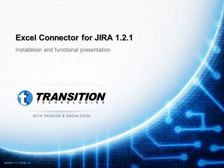 Excel Connector for JIRA 1.2.1 Installation and functional presentation.