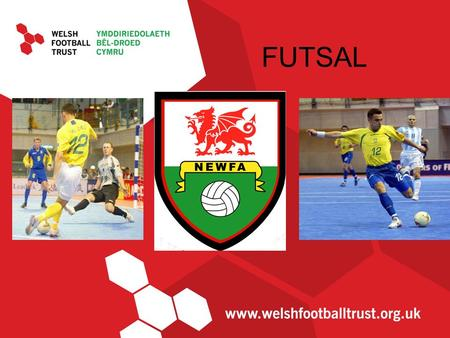 FUTSAL. What is Futsal? It's a 5-a-side game, normally played on a slightly larger pitch with hockey sized goals and a smaller ball with a reduced bounce.