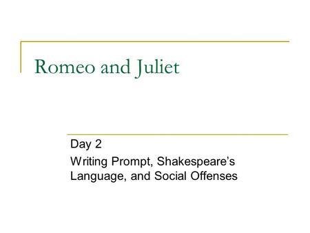 romeo and juliet essay ideas