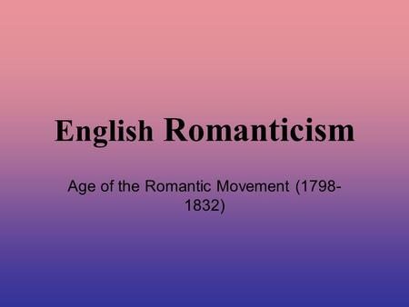 european romanticism essay Get this from a library the peoples voice : essays on european romanticism [andrea ciccarelli john claiborne isbell brian nelson].