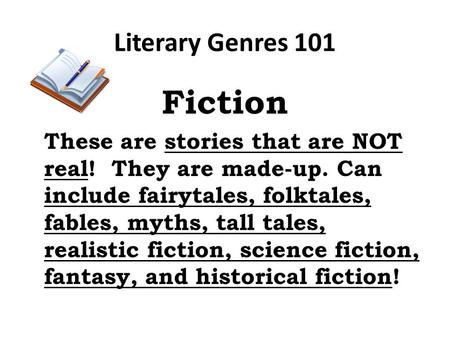 Fiction Literary Genres 101