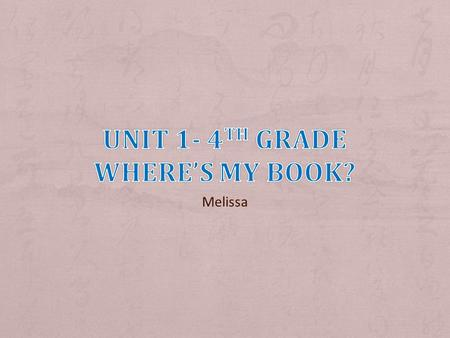 Melissa. 1. Be on-time 2. English only 3. Be nice 4. Everyone speaks 5. Be prepared.