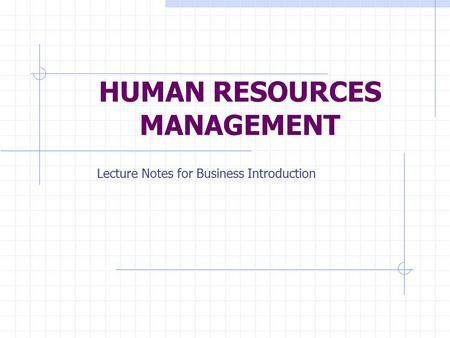 Notes on public administration and management