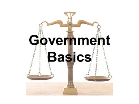 Government Basics. Sponge #1: Gov't Name ONE thing that you think the government should do AND ONE thing you think should NOT be something government.