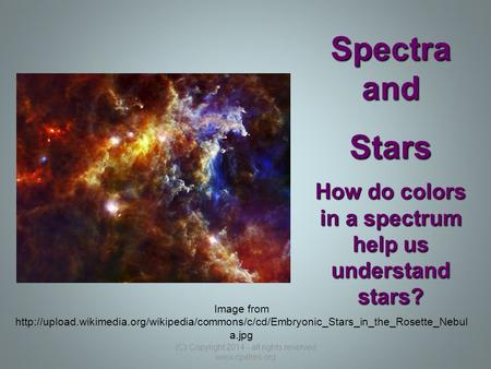 How do colors in a spectrum help us understand stars? Image from