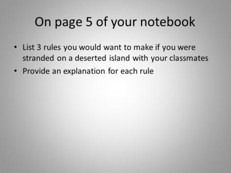 On page 5 of your notebook