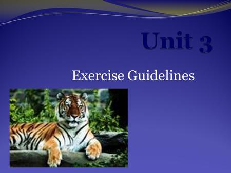 Exercise Guidelines. Objectives 1. Understand what clothing considerations should be made before exercising 2. Learn what precautions to take when exercising.