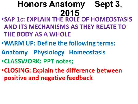 p5 explain the concept of homeostasis Assignment feedback form student name assignment 5-3 - assignment feedback form student name ³ask no p5 explain the concept of homeostasis 1.