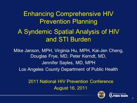 an analysis of hiv prevention Planning hiv prevention programmes requires up-to-date information on the  likely  the results of model analyses conducted in sub-saharan africa (fig.