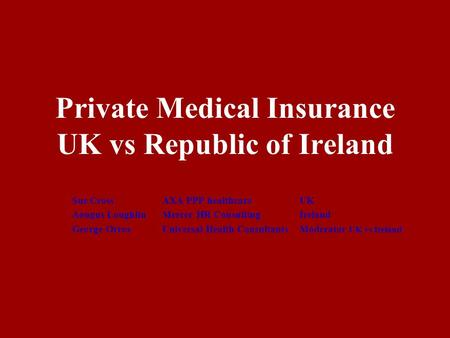 Private Medical Insurance UK vs Republic of Ireland
