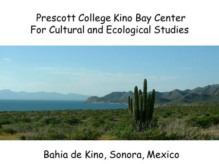 Prescott College Kino Bay Center For Cultural and Ecological Studies Bahia de Kino, Sonora, Mexico.