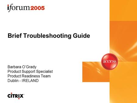 Citrix troubleshooting guide.