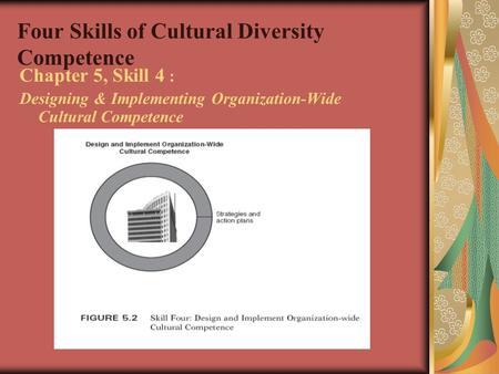 Four Skills of Cultural Diversity Competence Chapter 5, Skill 4 : Designing & Implementing Organization-Wide Cultural Competence.