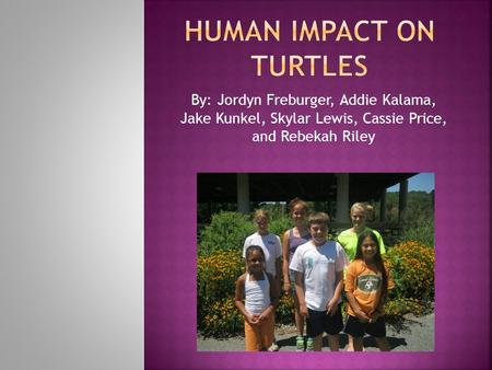 By: Jordyn Freburger, Addie Kalama, Jake Kunkel, Skylar Lewis, Cassie Price, and Rebekah Riley.