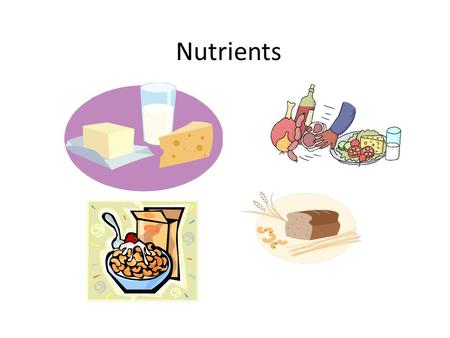 Nutrients. Carbohydrates Function: Provide ENERGY for the body Structure: Carbohydrates are sugars and starches Found in : rice, beans, potatoes, fruits,