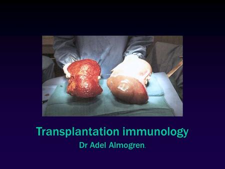 Transplantation immunology Dr Adel Almogren.. Transfusion vs. Transplantation  Transfusion  transfer of blood  Ab-mediated reactions  Transplantation.