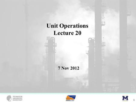Unit Operations Lecture 20 1 7 Nov 2012. McCabe-Thiele – AZ diagrams 2 Ethanol – Water Binary (1.013 bar):