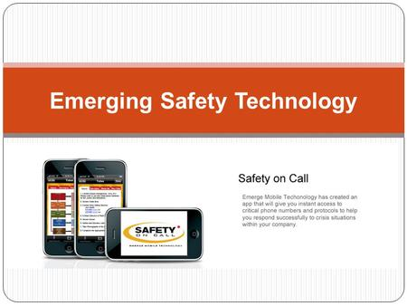 Jessica Dyer Emerge Mobile Tech Emerging Safety Technology.